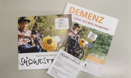 Broschüren Landkreis Südwestpfalz Pflege Demenz Pflegekarte